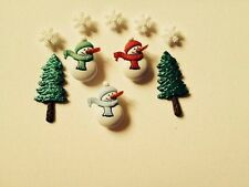 DRESS IT UP Christmas Snowmen/Tree  Have A Cool Yule Novelty Buttons