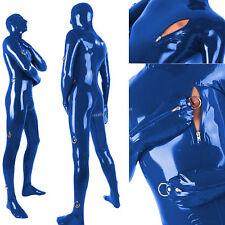 2018 Latex Rubber Navy Blue Bodysuit Bandage Catsuit Sexy Suit Size XXS-XXL
