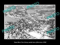 OLD LARGE HISTORIC PHOTO OF TOMS RIVER NEW JERSEY AERIAL VIEW OF THE CITY 1940 2
