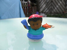 Fisher Price Little People - African / American / Brown Boy With Plane