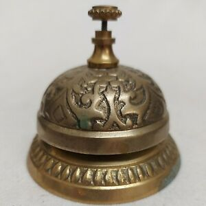 Reception Bell Desk Bell Last Order Brass type Embossed Bell Some discolouration