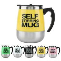 Automatic Electric Stainless Steel Self Mixing Cup Magnetic Stirring Coffee Mug