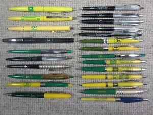 24 Vtg John Deere Ballpoint Pen & Mechanical Pencil Lot Advertising 34 Legged