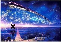 Difficulty Jigsaw Puzzles 1000 Piece mini Landscape Decompression Toy Star Train