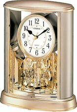 Citizen Analog Table Clock with Rotary Deco Gold Saloon by Rhythm Watch Co.Japan