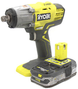 Ryobi Impact Wrench One+ 18V 3-Speed R18IW + 1.5Ah Lithium-ion Battery