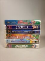 Lot of 6 Disney VHS Tapes Cinderella,snow white,bambi,rescuers +2