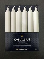 100% Stearin Dinner Candle Liljeholmens KANALLJUS (kanal) Candle 30 Pack