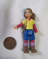 FISHER PRICE GO ANYWHERE Brunette GIRL Sweet Streets Dollhouse w/ CAP Rare!
