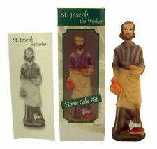 Saint Joseph the Worker Home Sale Kit with Statue and Instructions, 5 Inch