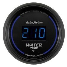 "Auto Meter 6937 Cobalt Series Digital Gauge 2-1/16"" Water Temp (0 - 340°F) Black"