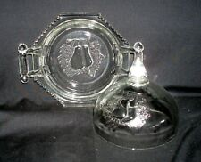 Round Covered Butter Dish - Dbl Baltimore Pear - Jeannette Glass