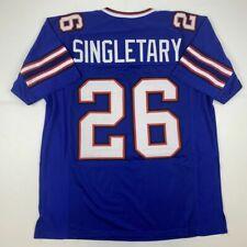 New DEVIN SINGLETARY Buffalo Blue Custom Stitched Football Jersey Size Men's XL