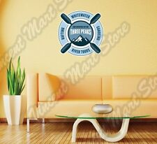 """River Tours Whitewater Canoeing Rafting Wall Sticker Room Interior Decor 22""""X22"""""""