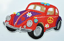 HIPPIE FLOWER POWER CAR embroidered PATCH PEACE SIGN SYMBOL ironon APPLIQUE