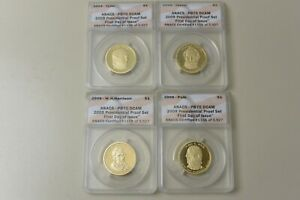 2009 $1 Presidential Proof Dollar Set First Day Of Issue ANACS PR70 DCAM