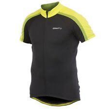 CRAFT Performance  Maillot Vélo AB Classic Jersey Noir Jaune T : M - ref 1902584