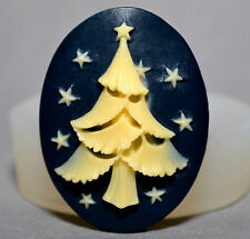 CHRISTMAS TREE - silicone MOULD sugar craft cup cake topper icing mold fimo clay