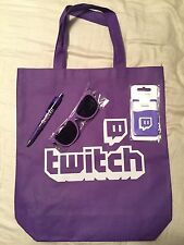 E3 2017 Twitch Swag Tote Bag Sunglasses Pen And Phone Wallet Set
