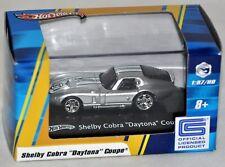 Hot Wheels 1:87 Blue Box Shelby Cobra Daytona Coupe silver NIB 2008 HO Trains