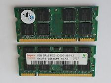HYMP512S64CP8-Y5-AB Hynix 1GB PC2-5300 DDR2-667MHz  200-Pin SoDimm Dual Rank Mem