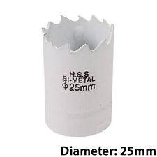BI-Metallo Punte Trapano CORE-DIAMETRO 25mm-acciaio HSS legno foro visto piano di lavoro Cutter