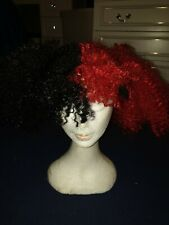 Jesterina Wig Red and black pigtails clown jester halloween wild hair