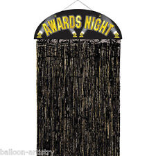 "36"" Awards Night Hollywood Party Black Fringe Doorway Curtain Party Decoration"