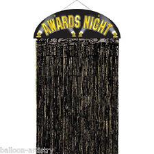 "36"" Awards Night Hollywood Party Black Fringe Doorway Curtain Party Decoration"