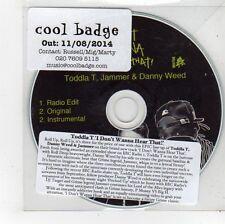 (FU247) Toddla T, I Don't Wanna Hear That - 2014 DJ CD