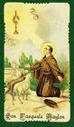 Santino ANTICO SAN PASQUALE BAYLON IMAGE PIEUSE - HOLY CARD SANTINI