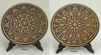 Damascene Gold Star Design Round Decorative Mini Plate by Midas of Toledo Spain