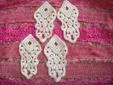 4 pieces Venise Ivory Venice lace applique #v42 great for bridal ,prom, evening