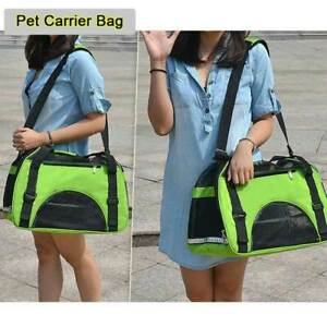 Large Pet Carrier Bag Portable Folding Comfortable Travel Airline Approved Green