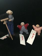 Lot Of 3–Käthe Kruse Mini Wooden Dolls