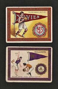 1910 Murad T51 College Series Tobacco Card: Xavier + Williams EPHS Basketball