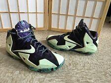 Nike Lebron XI All Star 11 Gumbo Nola Green Glow Purple ASG ASW Sz 11.5 RARE QS