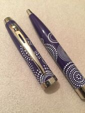 SHEAFFER 100 PURPLE CT BALLPOINT PEN-BLACK INK-NEW OLD STOCK