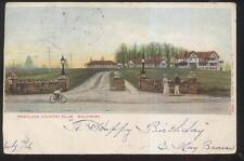 Postcard BALTIMORE Maryland/MD  Local Area Golf Course Country Club House 1906