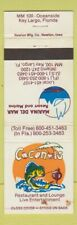 Matchbook Cover - Coconuts Restaurant Key Largo FL WEAR