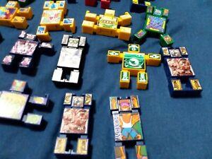 Vintage Hasbro Nak Nak Stacking Action Battle Figures - Lot of 17 block men toys