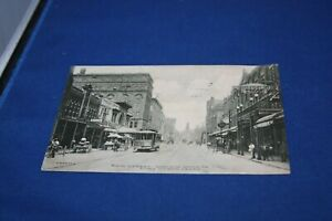 antique postcard - MAIN STREET - Fort Worth Texas - stamped/postmarked 1910