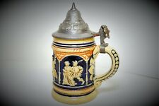 """New listing Small German Hinged Lid Stein 6.5"""""""