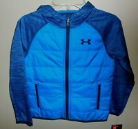 Under Armour Boys Size 6 Storm Jacket Coat Blue New Hooded