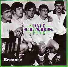 "DAVE CLARK FIVE  Because  PICTURE SLEEVE 7"" 45 record + juke box title strip NEW"