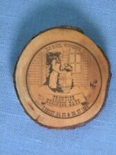 ELK RIVER MN Minnesota Frontier Business Days Vintage 1989 Wood Lapel Pin Button