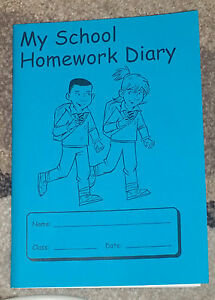 HomeWork School Diary Test Dates Children Students Home Work NoteBook 3 Colours