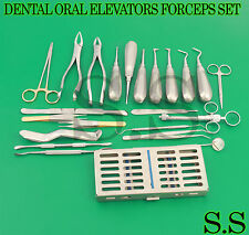 25 PC ORAL DENTAL SURGERY EXTRACTING ELEVATORS FORCEPS INSTRUMENT KIT SET DN-417