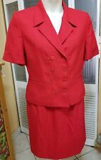 DRESS BARN LADIES RED SKIRT SUIT - SIZE 14