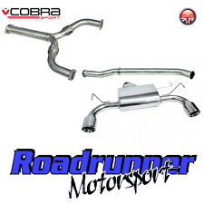 Cobra exhaust Fits 350Z Acier Inoxydable Système CAT BACK Non Resonated Inc y section